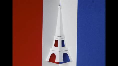 eiffel tower pop  card youtube