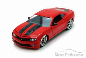 Chevy Camaro SS Red WStripes Jada Toys Bigtime Muscle 96762 124 Scale Diecast Model Car