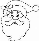 Coloring Santa Claus Beard Popular sketch template