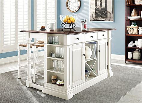 pemberton  pc counter height kitchen set antique white