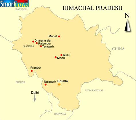 detailed  printable map  himachal pradesh india