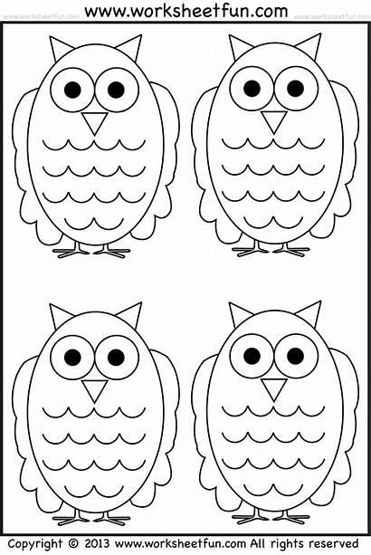 Owl Coloring Tracing Worksheets Halloween Worksheet Printable