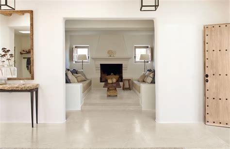 carreau ciment cuisine carrelage aspect béton ciré blanc pour sol intérieur en