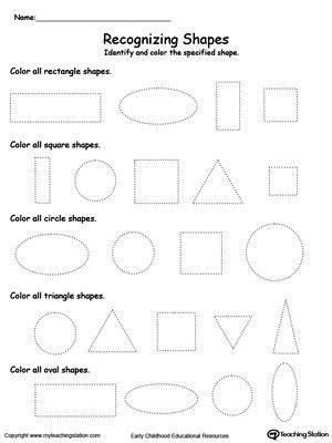 recognizing shapes shapes worksheets shapes worksheets 243   103e070eb617900ec64555797dec2e99