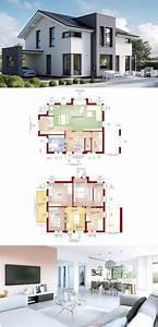 Modernes Haus Grundriss : moderne architektur mit satteldach haus concept m 167 ~ Lizthompson.info Haus und Dekorationen