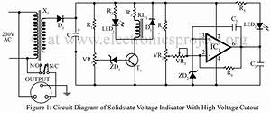 Circuit Diagram Of Solidstate Voltage Indicator With High