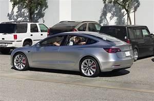 Tesla Model 3 spotted testing along Hyperloop track ...