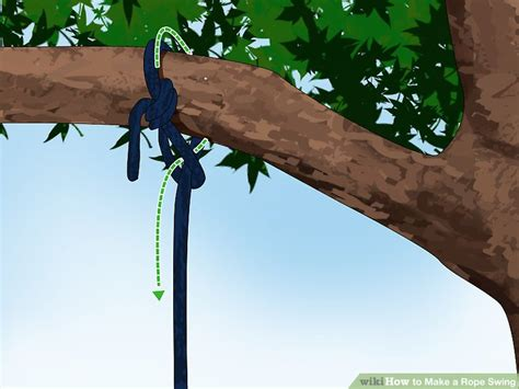 rope swing 3 ways to make a rope swing wikihow