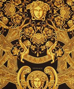 Versace Yellow Black and Gold Silk Scarf | SILK SCARVES ...