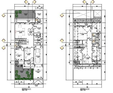 denah rumah  lantai minimalis ukuran