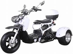 New  Ice Bear Pluto 50cc Full Size Motor Trike Moped
