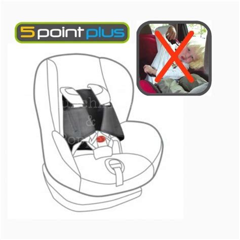 5 point harness car seat 5 point plus car seat anti escape system baby child safety harness straps ebay