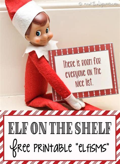 on the shelf free on the shelf printable elfisms
