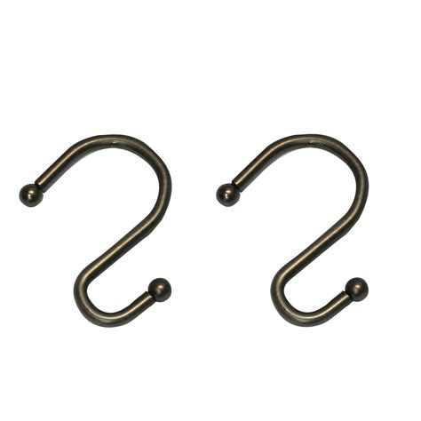 cannon metal s hook rubbed bronze shower curtain hooks