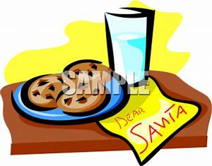 Chocolate Chip Cookies For Santa Clipart Image ...