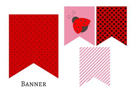 red pink ladybug banner magical printable