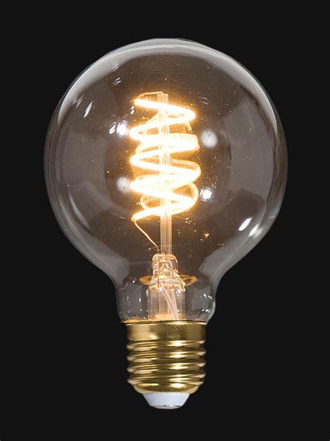 led vintage style light bulb  medium size  wspiral filament  bp lamp supply