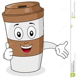 Paper Coffee Cup Cartoon