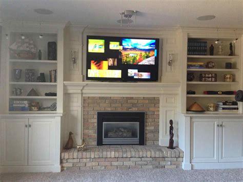 fireplace  shelves   sides sofa cope