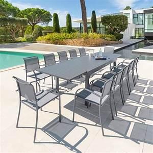Table De Jardin Extensible Aluminium : table de jardin extensible piazza aluminium 320 x 100 cm gris ardoise salon de jardin ~ Melissatoandfro.com Idées de Décoration