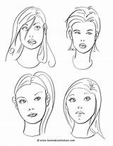 Coloring Makeup Face Faces Drawing Pages Draw Drawings Cartoon Hair Techniques Sketches Printable Blank Practice Print Person Sketching Templates Painting sketch template