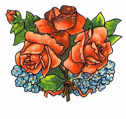 Bouquet Roses Clipart Flower Flowers Cliparts Clip
