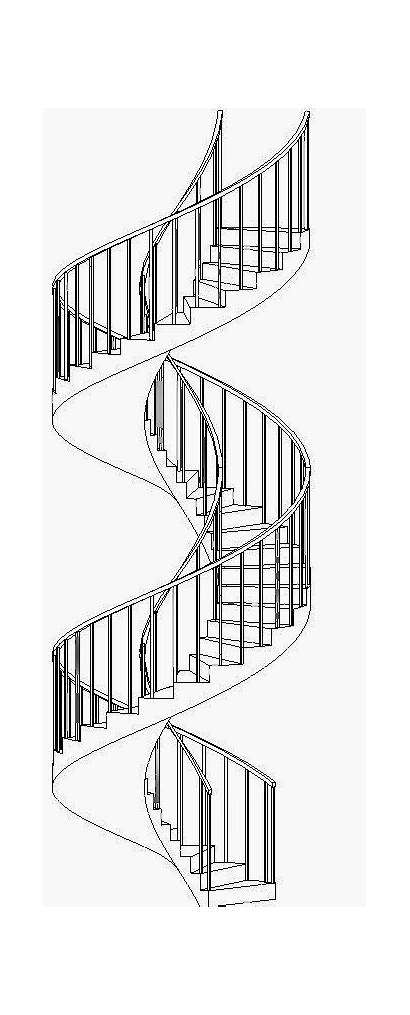 Spiral Stairs Curved Revit Stair Double Revitcat
