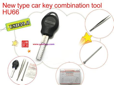 Hu66 New Type Car Key Combination Tool Accessories Car Key