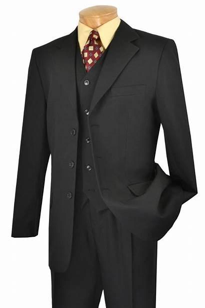 Suits Suit Piece Button Mens Buttons Vinci