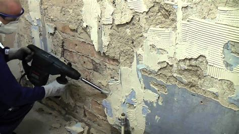 concrete look tile how to remove plaster