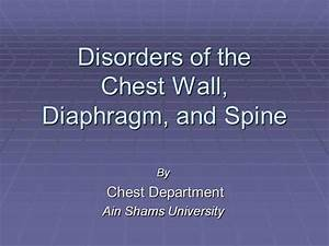 Disorders Of The Chest Wall  Diaphragm And Spines
