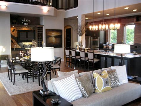 Kitchen Sitting Room Ideas - open concept kitchen and living room décor modernize