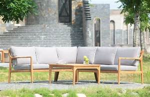 Canapé Jardin Bois : canap de jardin pour la d tente l 39 ext rieur ~ Teatrodelosmanantiales.com Idées de Décoration