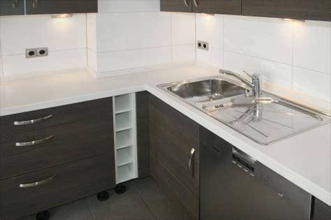 plan de travail en corian r 233 nov 233 et r 233 install 233 dans une nouvelle cuisine 233 quip 233 e travaux