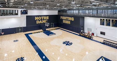notre dame basketball practice facility dedicated news