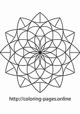 Mandala Triangle Coloring sketch template