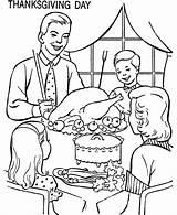 Coloring Thanksgiving Dinner Sheets Table Eating Drawing Printable Drawings Activity Characters Feast Sketch Meal Deti Bluebonkers Popular Getdrawings Uložené sketch template