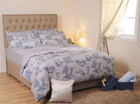 Blue Toile Duvet Cover Quilt Sets Easy Care Portugal