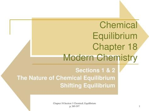 ppt chemical equilibrium chapter 18 modern chemistry powerpoint presentation id 3325374