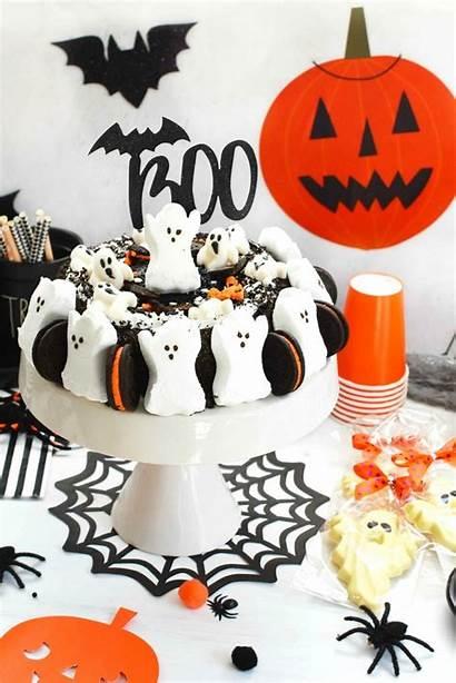 Cake Halloween Ice Cream Oreo Ghost Decorations