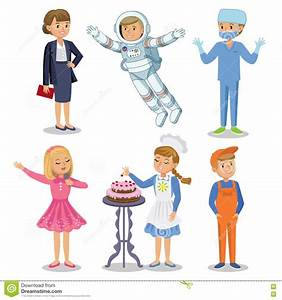 Vector Set Different Professions Kids Profession Stock