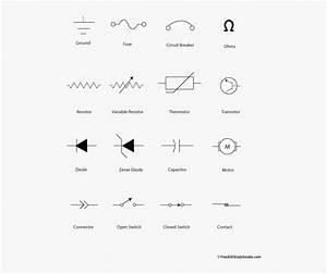 Wiring Diagram Circuit Breaker Symbol  Hd Png Download