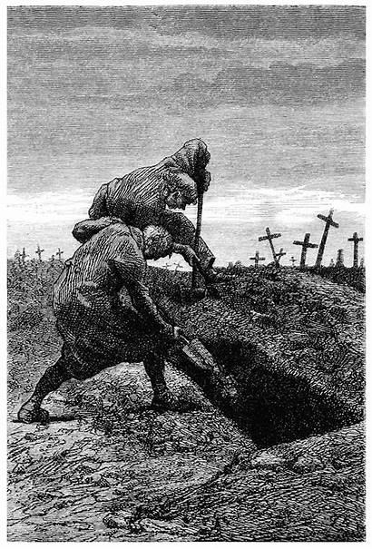 Digging Grave Shovel Illustration Pick Illustrations Cemetery