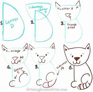 Big Guide to Drawing Cartoon Cats with Basic Shapes for ...