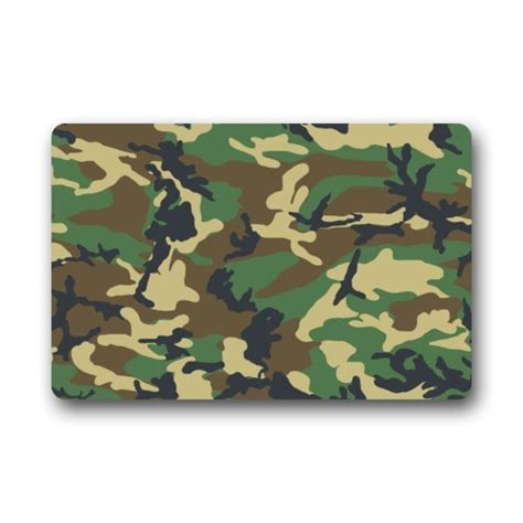 fantastic doormat camouflage military uniform green army