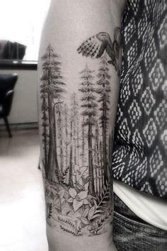 Black Grey Mountain Scene Tattoo Russell Fortier