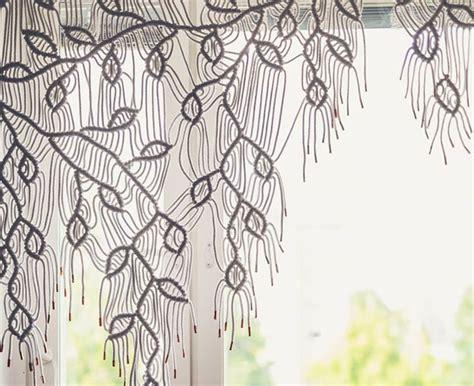 Home Decorating Ideas Bohemian DIY macrame curtain with