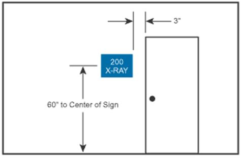 ada restroom sign height requirements ada signage installation images frompo