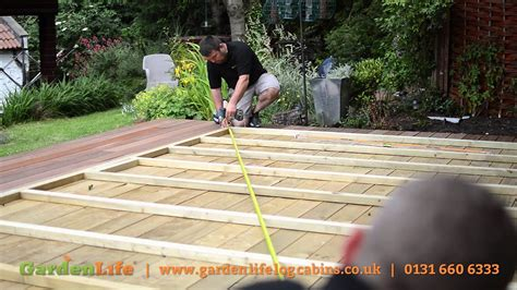 preparing  base   summerhouse  garden building