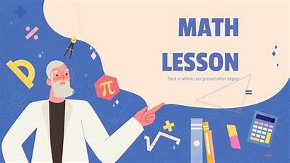 Math Powerpoint Ppt Template Templates Mathematics Lesson